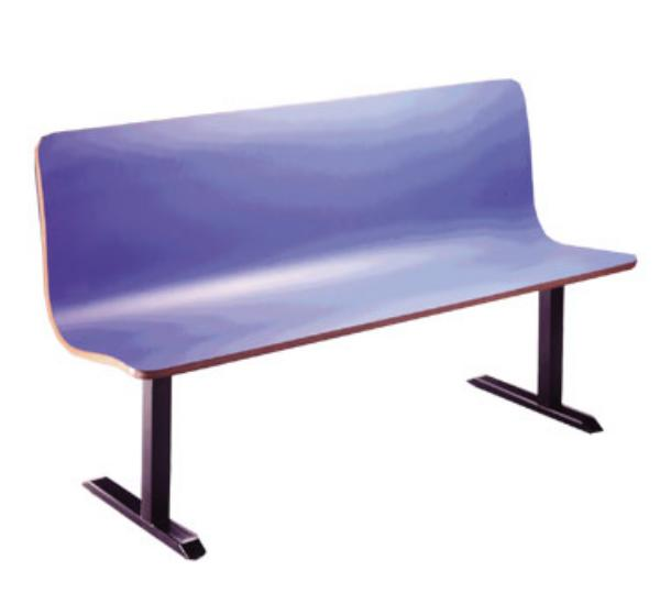 Waymar Industries CM9558 CountourMold Continuous Seating Single 72 in-95 in L Restaurant Supply