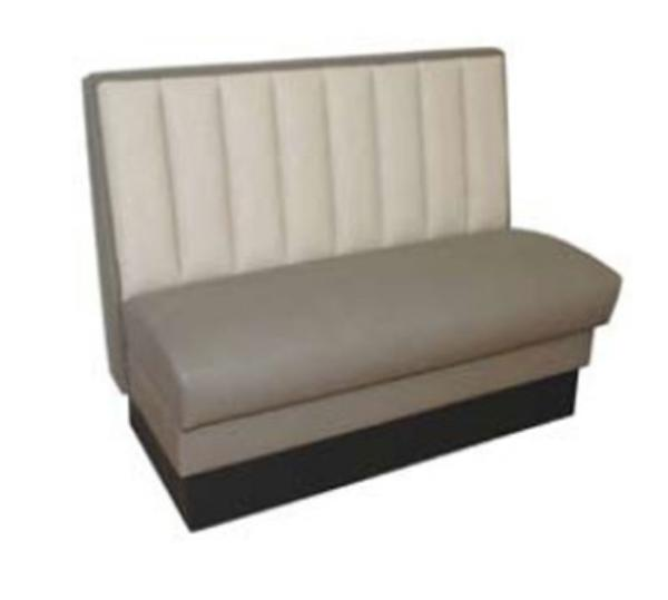 Waymar Industries CRE30D Creighton Booth Double Vertical Channel Back Upholstered 30in L Restaurant Supply