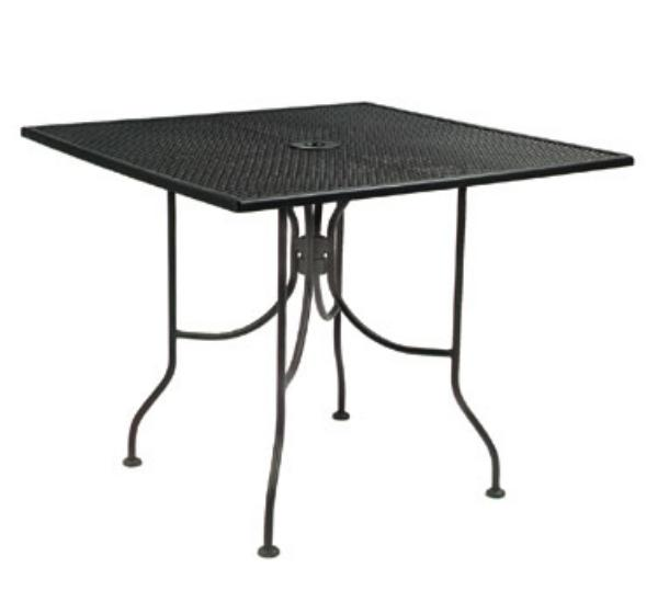 Waymar MT293636M Patio Outdoor Table, 36 x 36 in, Metal Mesh