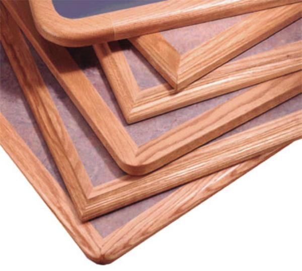 Waymar Industries WP15253096 Tabletop 30 in x 96 in 1-1/4 in Thick Laminate w/ 1-1/2 in Wood Edge Restaurant Supply