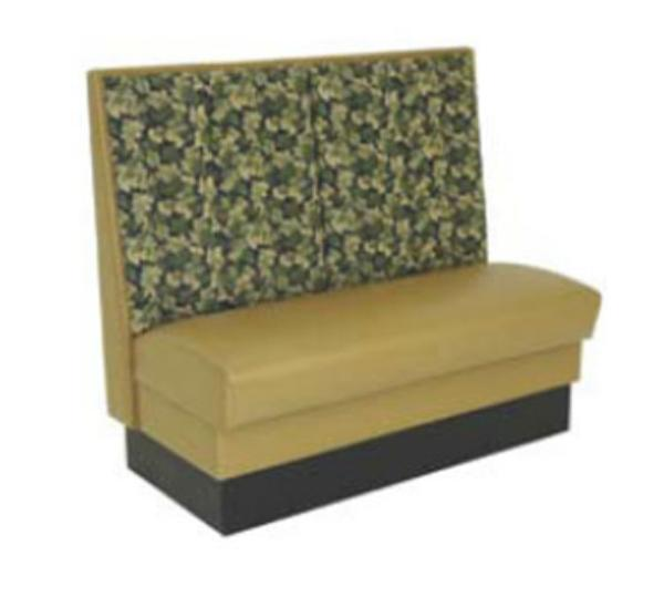 Waymar Industries YAL48D Yale Booth Double Split Back w/ Dual Pads Upholstered 48 in L Restaurant Supply