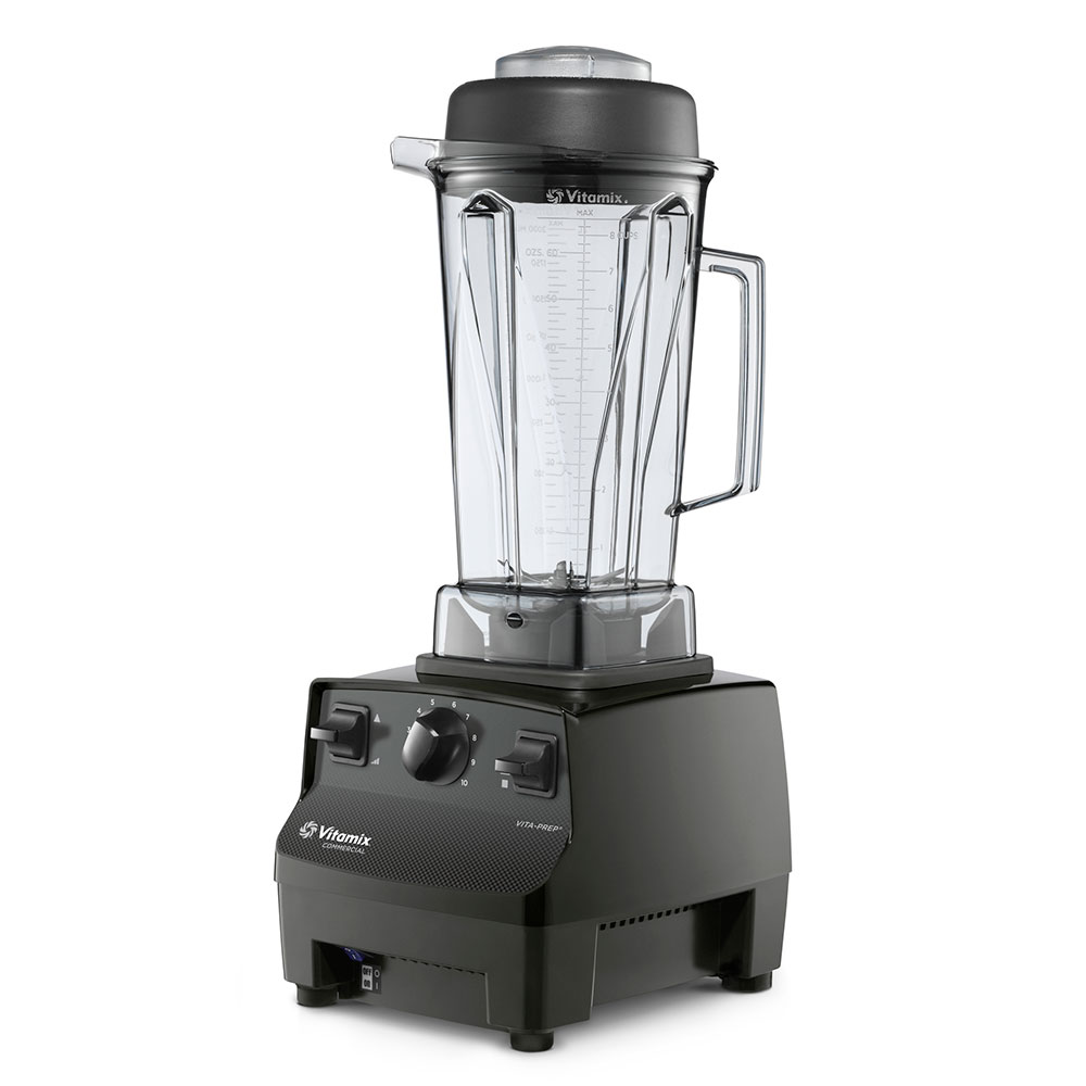 Vitamix 1002 Food Blender w/ 64-oz Clear Container, Variable Speed & Black Base