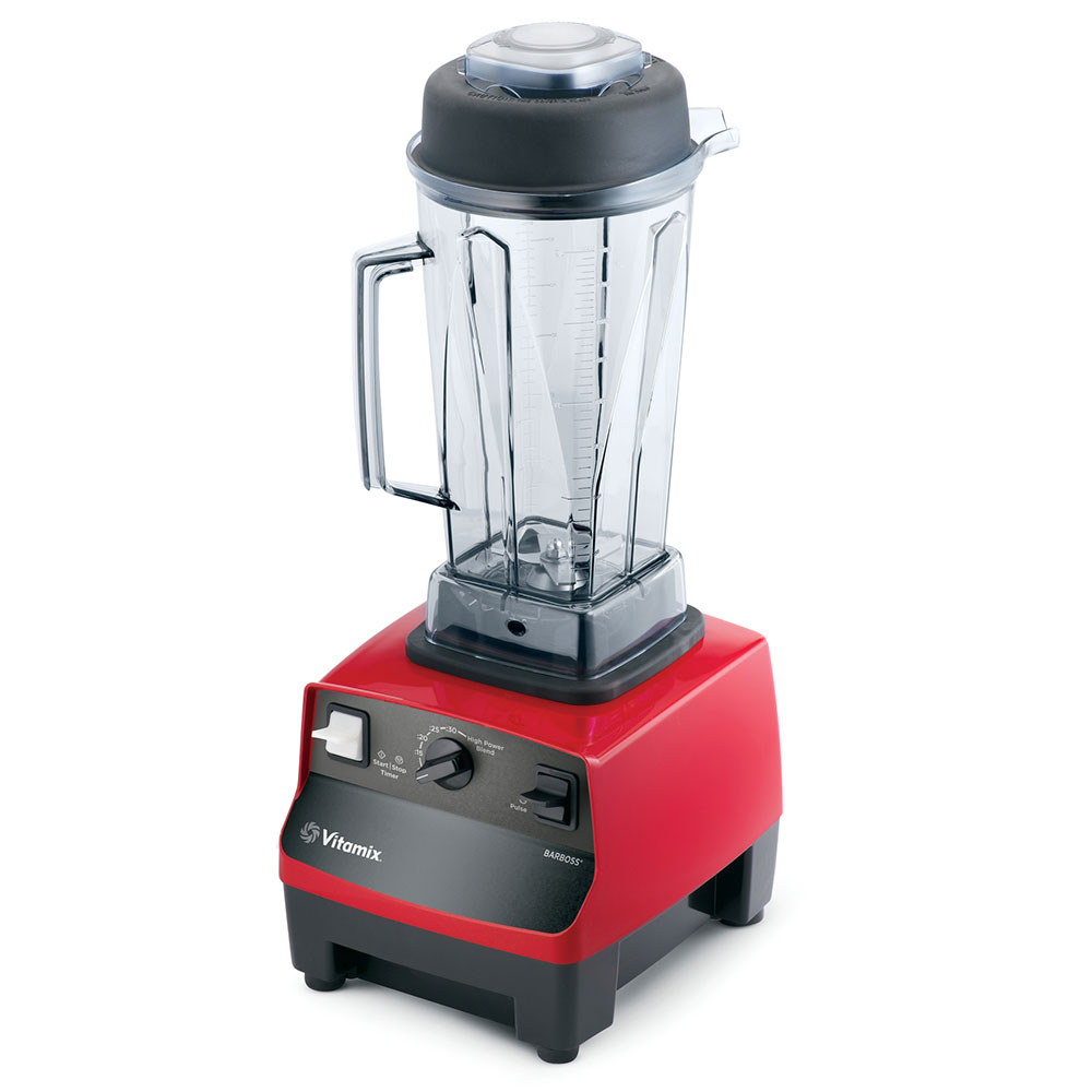 Vitamix 5029 Drink Blender w/ 48-oz Clear Container, Pulse & Auto Off, Red Base