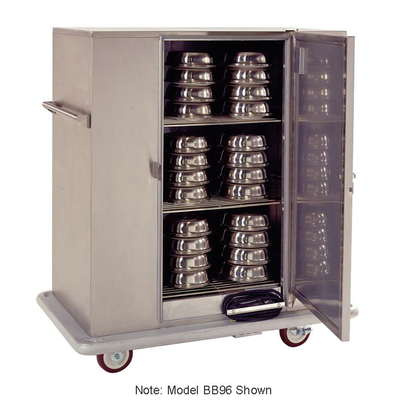 Carter-Hoffmann BB120 Mobile Banquet Cabinet - Holds 144 Covered Plates, 3-Shelf, Stainless