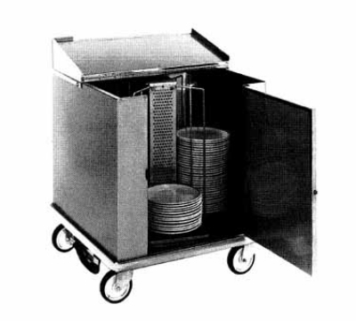 Carter-Hoffmann CD260H Heated Enclosed Dish Cart, 252-Dividers for 12.5-in Plates