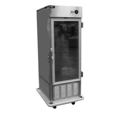 Carter-Hoffmann PHB495 Mobile Refrigerated Cabinet w/ Full-Height Glass Doors