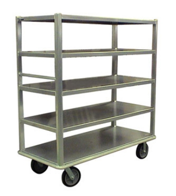 Carter-Hoffmann T545 China/ Silver Transporter w/ Open Design, (5) 27x54-in Shelves