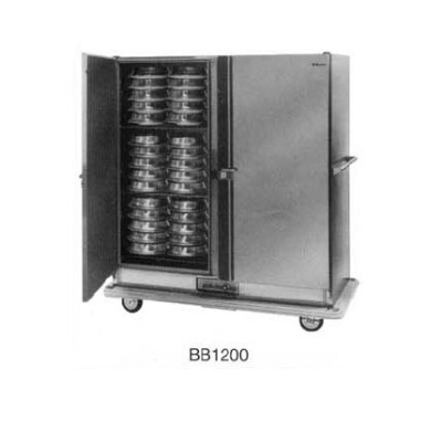 Carter-Hoffmann BB1200 Heated Banquet Cabinet w/ Canned Fuel Doors, 2-Door, 120-Plates