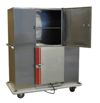 Carter-Hoffmann BB200D Heated Banquet Cabinet, Dutch Door, 200-Plate Capacity, Stainless