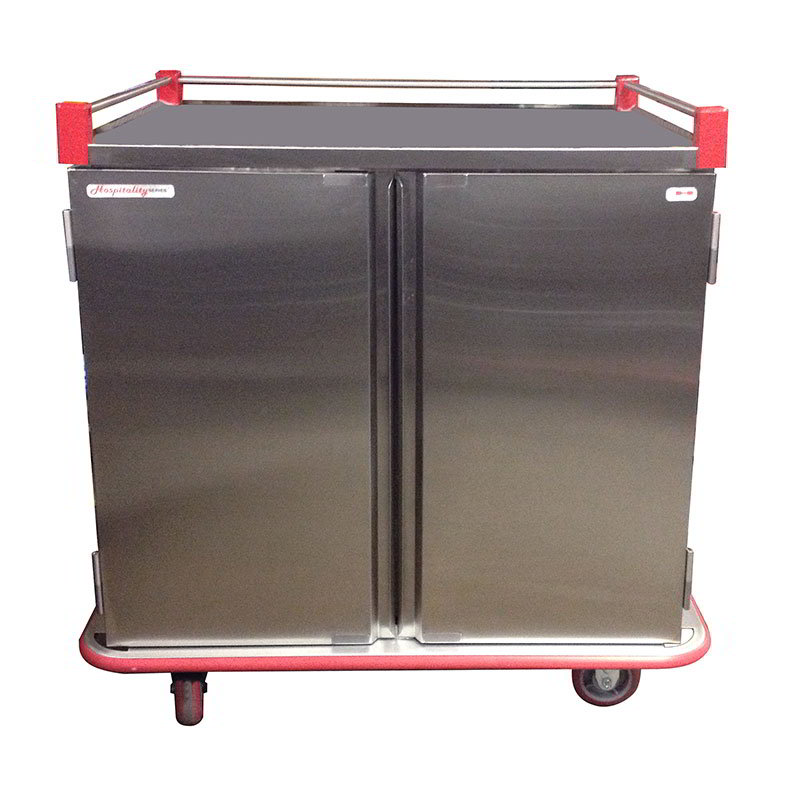 Carter-Hoffmann PTDTT24 Patient Tray Cart - (2) Trays/Slide, 2-Door, (24) Tray Capacity