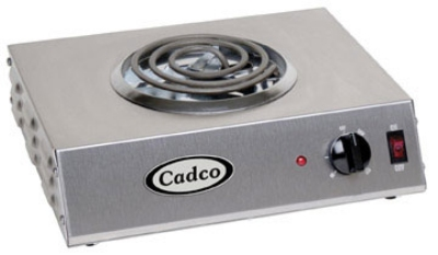 Cadco CSR-1T Hot Plate w/ Single Burner & Infinite Controls, 1100W