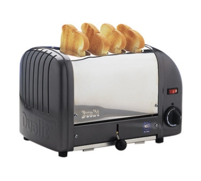 Cadco CTW-4M(208) 4-Slice Bread Toaster w/ 1-in slots, Metallic End Panels, 208 V