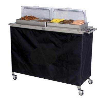 Cadco CBC5RT Buffet Warming Cart, Holds (4) 1/2 & (3) 1/3-Size S