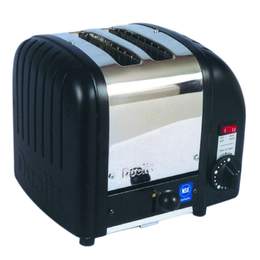 Cadco CBT2 Toaster, 2-Slice Bagel, 1.25 in. wide Slots, White End Panels