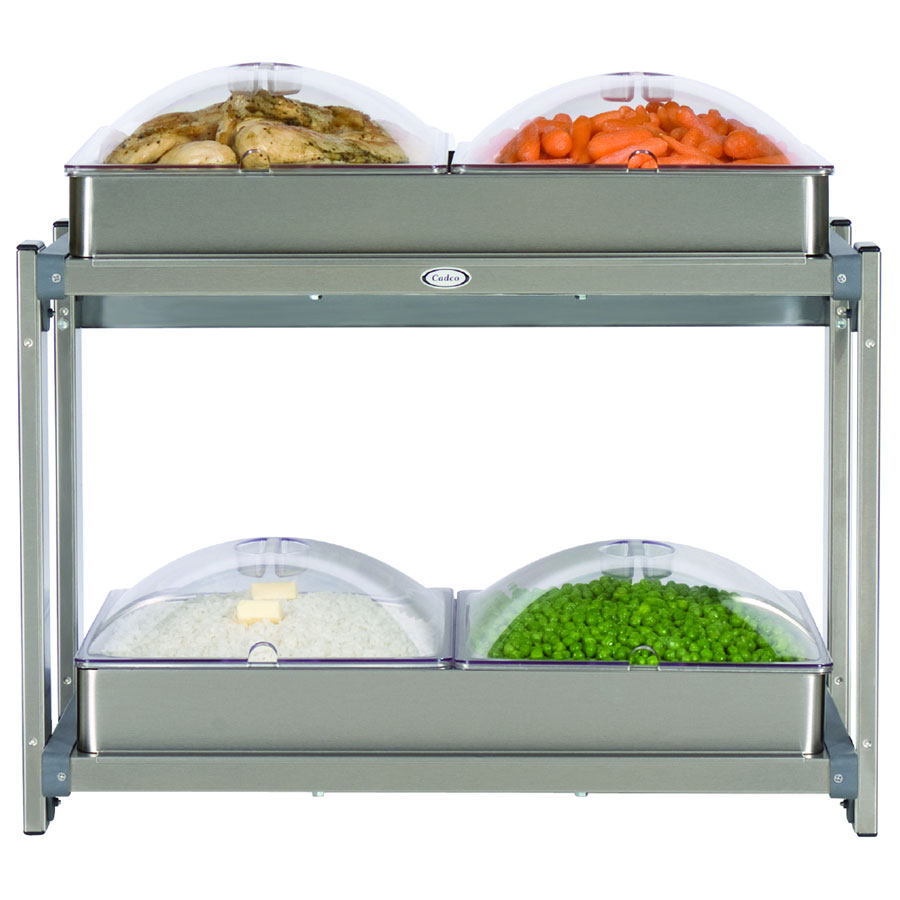 Cadco CMLB24P Multi-Level Buffet Warmer, (2) 20-1/2 x 14 in Warming Surfaces