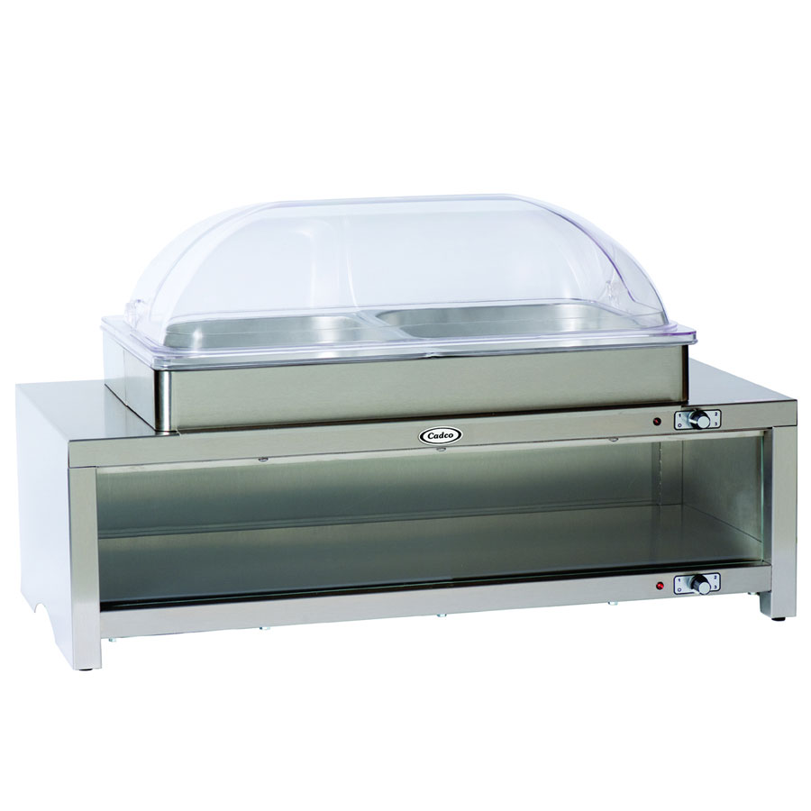 Cadco CMLBC2RT Buffet Warmer, Warming Cabinet Style, Low Profile Roll Lid
