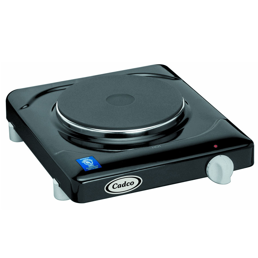 Cadco KR1 Counter Cast Iron Range w/ Single Burner, Infinite Controls, 120 V