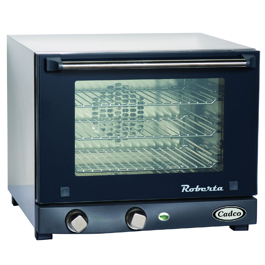 Cadco OV-003 Countertop Convection Oven w/ Manual Controls, (3) 1/4 Pans, 120 V