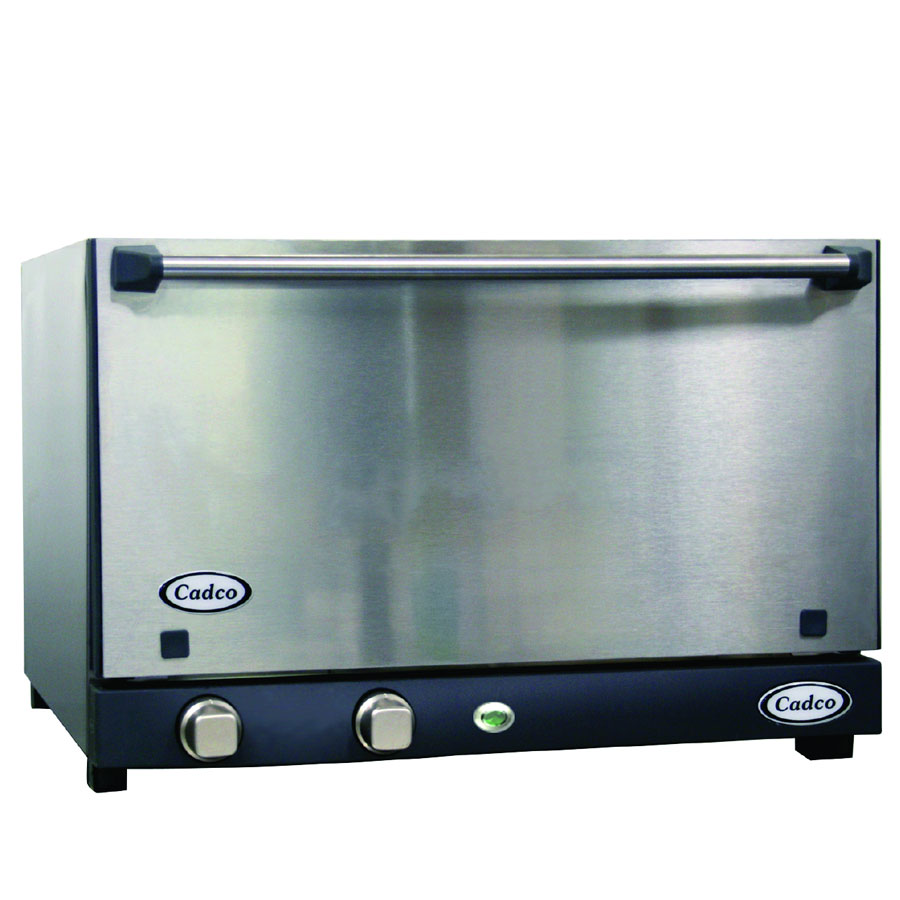 Cadco OV013SS Countertop Convection Oven, Half-Size w/ Manual Controls, Stainless