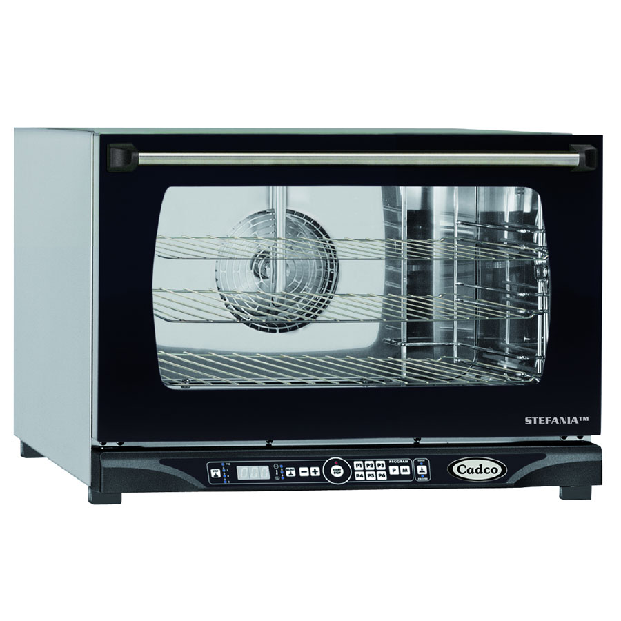 Cadco XAFT-115 Countertop Convection Oven - Holds (3) 1/2-Sheet Pans, Stainless, 208v