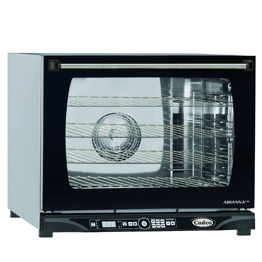 Cadco XAFT-130 Countertop Convection Oven, Holds (4) 1/2-Size Sheet Pans, Stainless