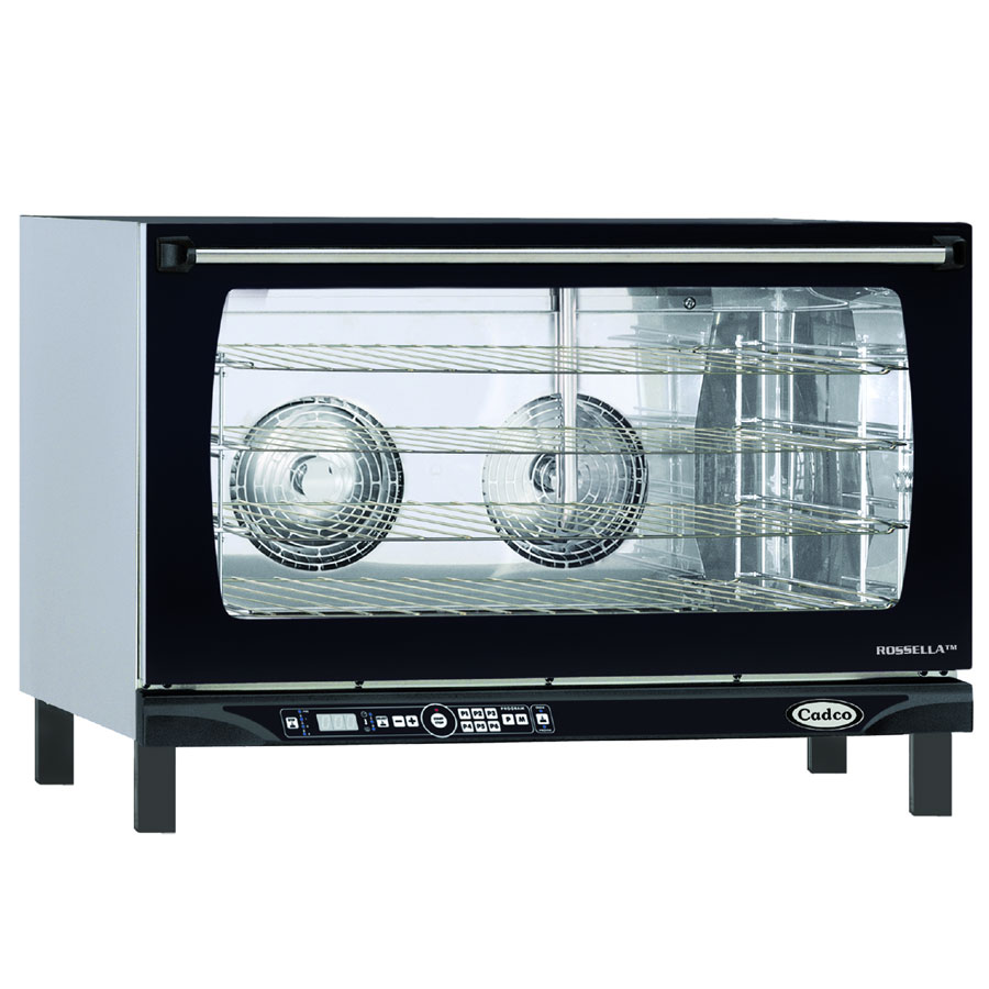 Cadco XAFT-195 Countertop Convection Oven - Holds (4) Full Size Sheet Pans, Black/Stainless