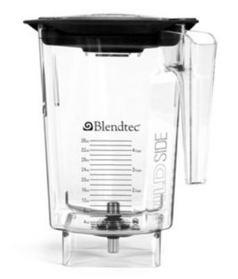 Blendtec 4061550 3-qt WildSide Jar Only, BPA-Free Co-Polyester, Clear
