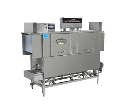 CMA EST-66L/R-L2081 66-in Low Temp Conveyor Dishwasher, 243-Racks/hr, Right to Left, 208/1 V
