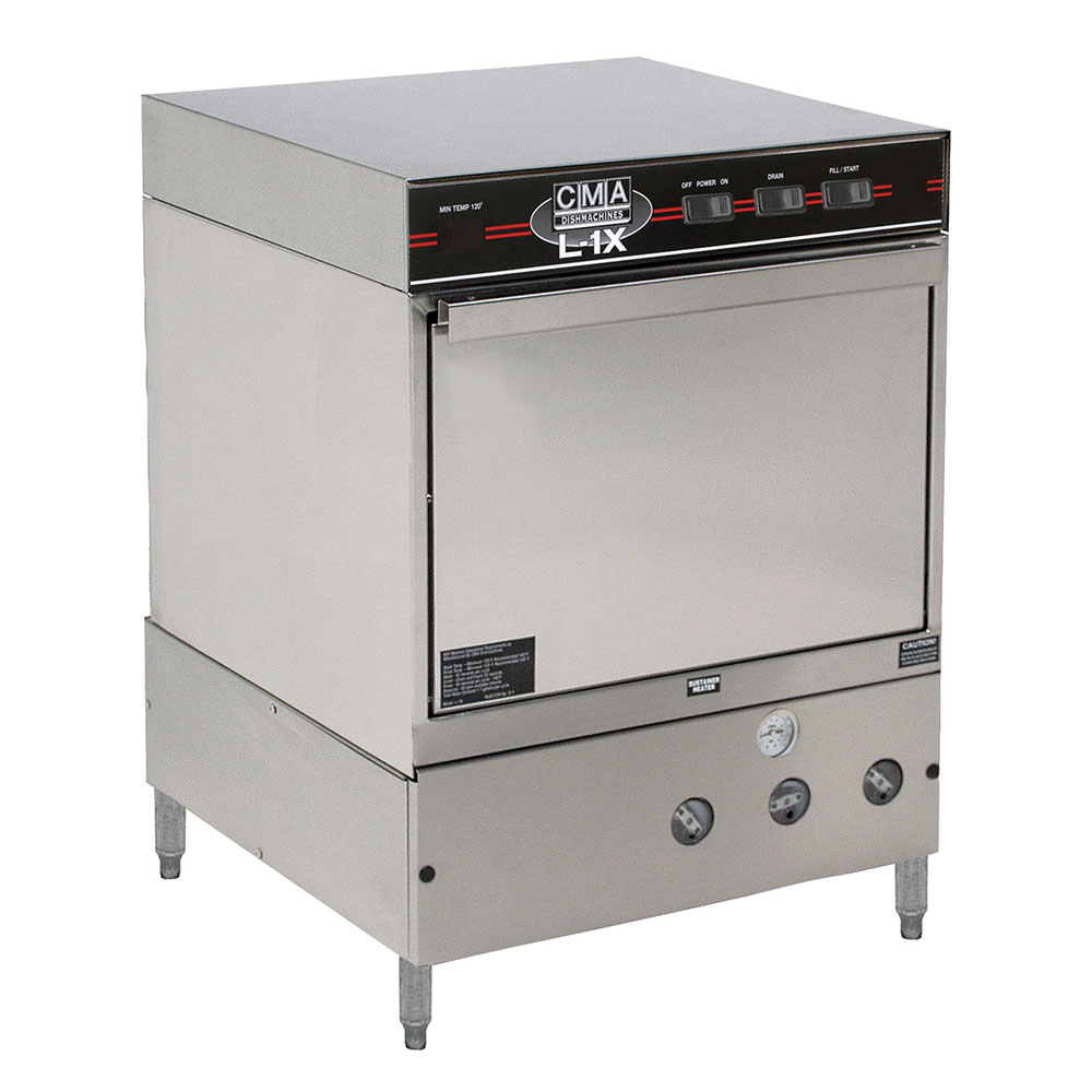 CMA L-1X W/HTR Low Temp Undercounter Dishwasher w/ Sustainer Heater