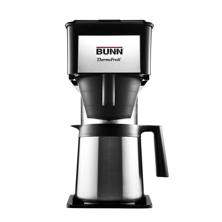 BUNN-O-Matic Residential 38200.0016 BTX-B ThermoFresh Coffee Brewer, 10 Cup, SS Carafe, Black/Stainless