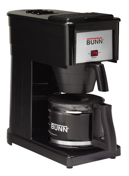 BUNN-O-Matic Residential 38300.0034 GRX Basic Home Brewer, 10 Cup, Pourover, Decanter Included, Black