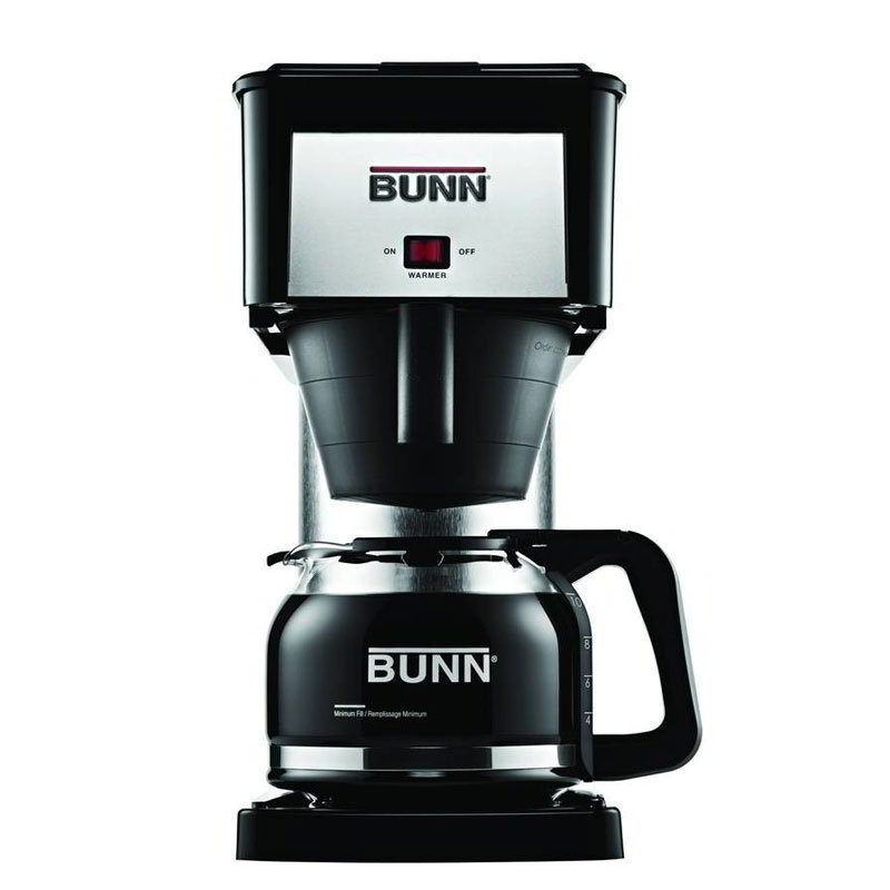 BUNN-O-Matic Residential 38300.0067 BX Velocity Home Brewer, 10 Cup, Decanter Included, Black