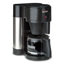 BUNN-O-Matic Residential 38400.0000 NHBX Home Coffee Maker w/ Decanter, Black Stainless Finish