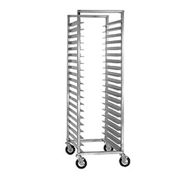 Cres Cor 207-1524-SD Mobile Utility Rack w/ 24-Pan Capacity & Super Duty Angle Ledge, Aluminum