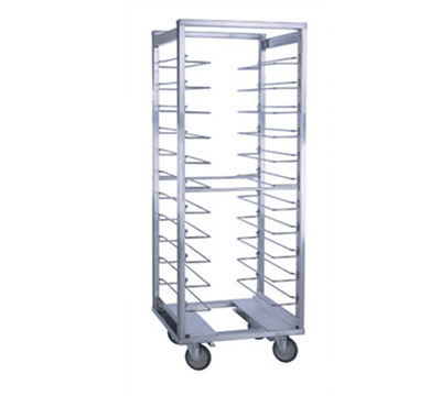 Cres Cor 207-UA-12-AD Roll-In Refrigerator Rack w/ 12-Slides & Enclosed Base, Open Frame, Aluminum
