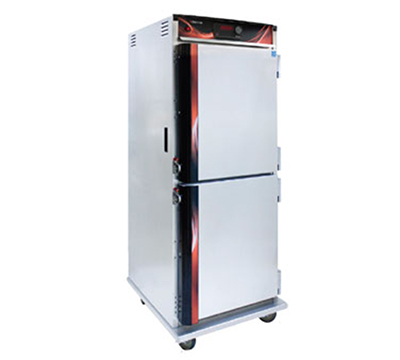 Cres Cor H-137-UA-12D 1201 Mobile Heated Cabinet w/ 12-Chrome Slides, LED, Stainle
