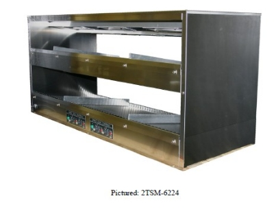 BKI 2TSM-6224R 2-Tier Sandwich Warmer w/ Slanted Back, Right-Hand Cord, 62 x 24-in, 120/208 V