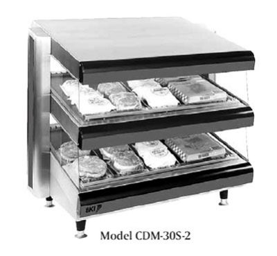 BKI CDM-36S-2 36-in Self-Serve Merchandiser w/ 2-Slanted Deck & 12-Divider Rods, 120 V