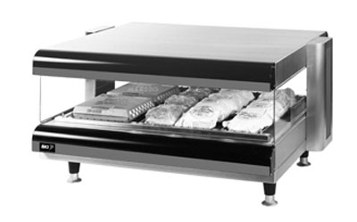 BKI CDM-36H-1 36-in Self-Serve Merchandiser w/ 1-Deck & 6-Divider Rods, Tempered Glass 120 V