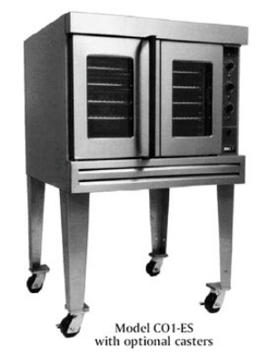 BKI CO1-ES 2201 Full Size Electric Convection Oven - 220/1v