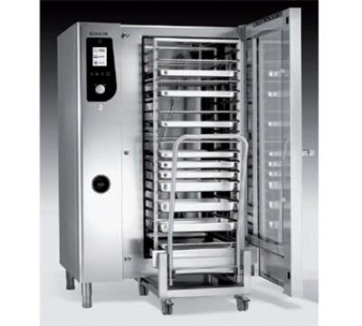 BKI HE202 Boiler Steam Combination Oven w/ (40) 12 x 20-in Pan & Touch Control, 208/3 V