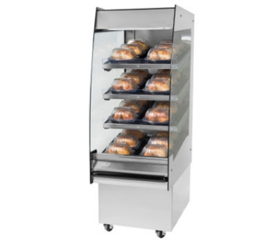 BKI HSS2-3 240 24-in Hot Self Serve Merchandiser w/ Marine Edge & (3) Slanted Shelves, 240/1 V