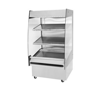BKI HSS3-3 208 36-in Hot Self Serve Merchandiser w/ Marine Edge & (3) Slanted Shelves, 208/1 V