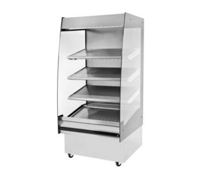 BKI HSS3-4T 208 36-in Hot Self Serve Merchandiser, Marine Edge, (4) Slanted Tall Shelf, 208/1 V