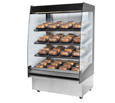 BKI HSS3-4S 220 36-in Hot Self Serve Merchandiser, Marine Edge, (4) Slanted Short Shelf, 220/1 V