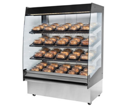 BKI HSS4-5 208 48-in Hot Self Serve Merchandiser w/ Marine Edge & (5) Slanted Shelves, 208/1 V