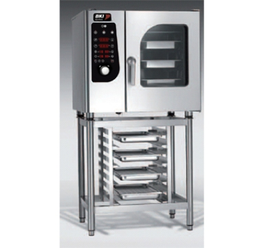 BKI MG061 NG Boiler Steam Combination Oven w/ (6) 12 x 20-in Pan, Digital Control, NG