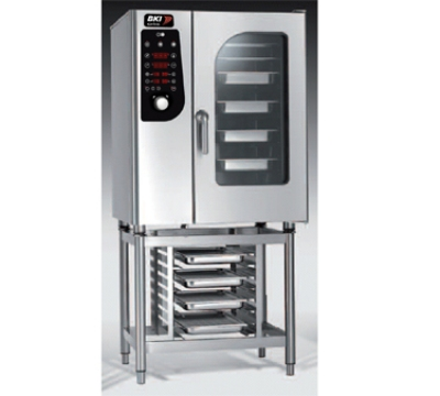 BKI MG101 NG Boiler Steam Combination Oven w/ (10) 12 x 20-in Pan, Digital Control, NG