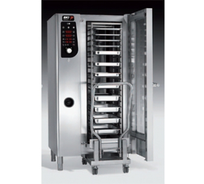 BKI MG201 NG Boiler Steam Combination Oven w/ (20) 12 x