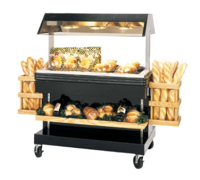BKI MM-4 120 46.87-in Mobile Heat Display Merchandiser w/ 6-in Well, Holds 24-Chicken, 120 V